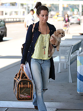 Another flight for Ashley Tisdale