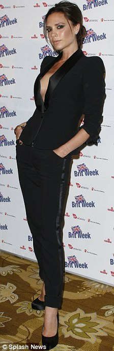 Victoria Beckham at a BritWeek charity gala in LA last night