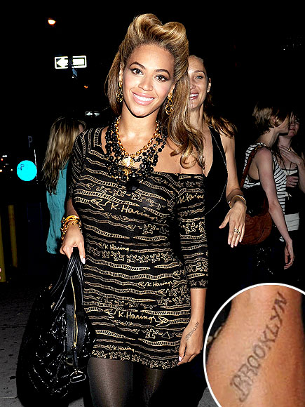 Beyoncé shows off her new tattoo