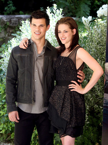 Eclipse in Rome Taylor Lautner and Kristen Stewart